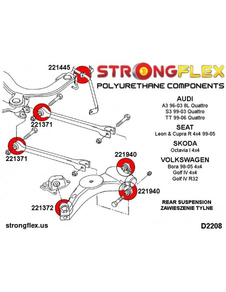 036110B: Full suspension bush kit