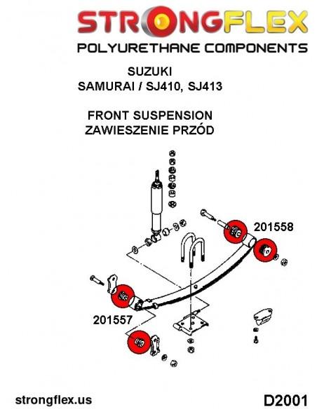 036242A: Rear suspension bush kit SPORT