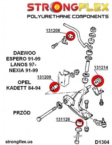 036245B: Rear beam bush kit