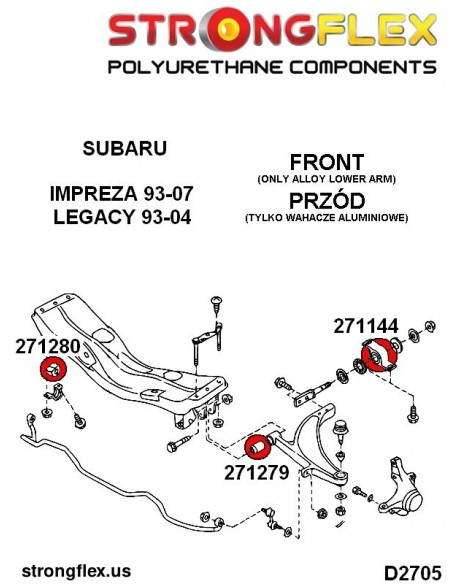 061170B: Front wishbone rear bush