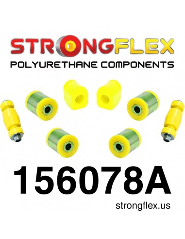 156078A: Front kit suspension polyurethane bushes SPORT