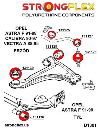 066042A: Front anti roll bar bush kit polyurethane SPORT