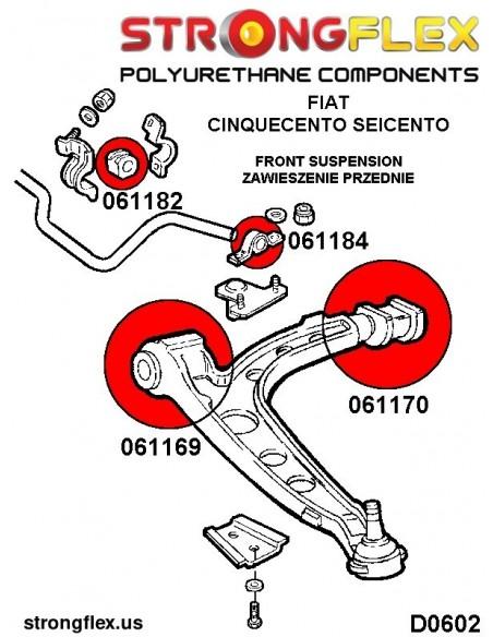 071481A: Rear inner lower arm bush SPORT