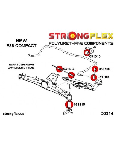 081585B: Rear track control arm bush