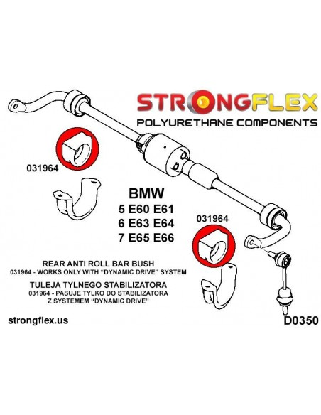 016244A: Full suspension bush kit SPORT