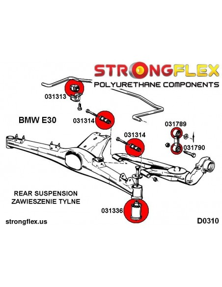 081742A: Rear toe adjuster inner bush SPORT