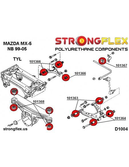 086130A: Full suspension bush kit polyurethane SPORT