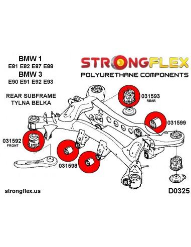 086200A: Steering rack mount bush kit SPORT