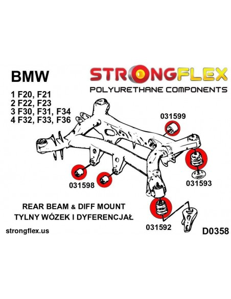 101368A: Rear diff mount bush SPORT