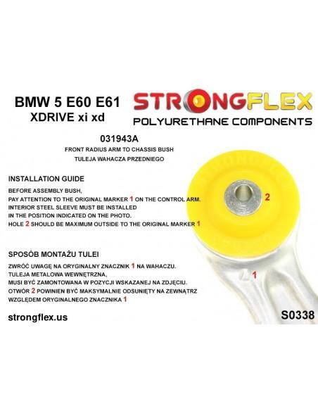 021459A: Front wishbone bush sport / rear wishbone bush SPORT