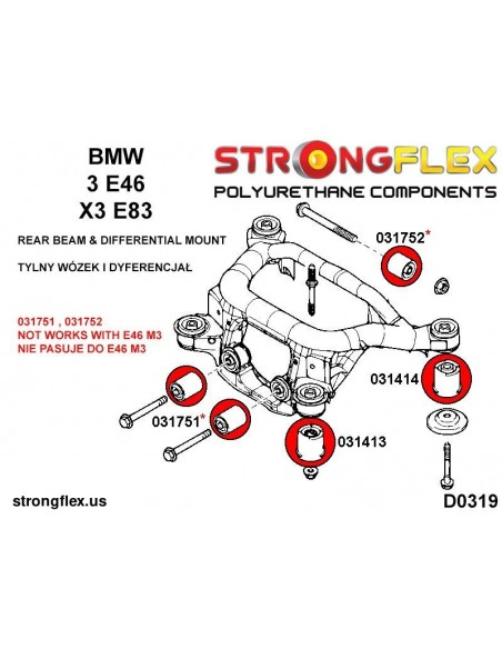101702A: Steering rack bush SPORT