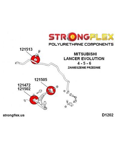 106178A: Front suspension bush kit SPORT