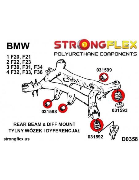 106182A: Front suspension bush kit SPORT