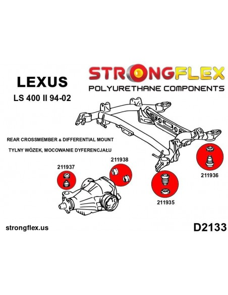 111858B: Front lower arm - front / rear bush