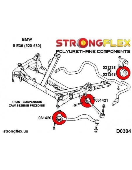021769A: Rear toe adjuster outer bush SPORT