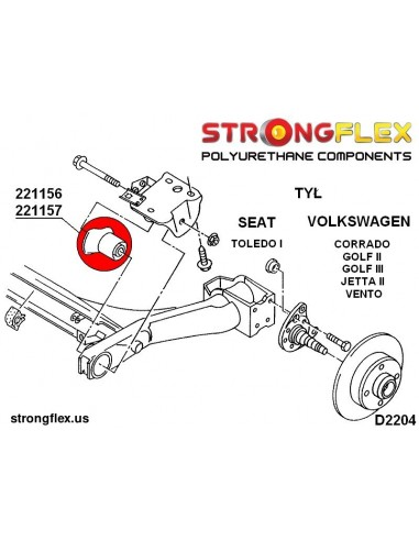116246B: Front suspension bush kit