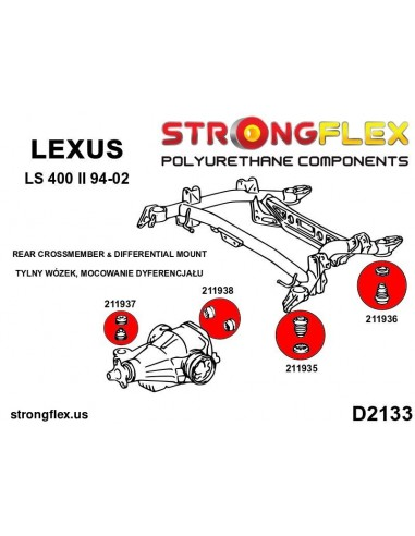 121464A: Rear lower track control arm outer bush SPORT