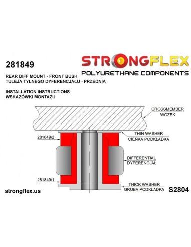 036244B: Rear subframe bush kit