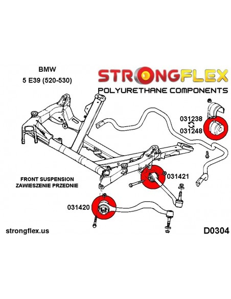 126144A: Full suspension bush kit SPORT