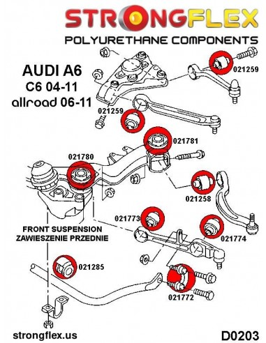 276050B: Rear suspension bush kit