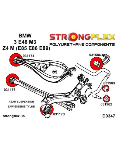 031174A: Rear control arm upper inner SPORT