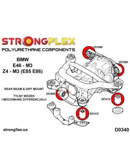 031197A: Rear lower trailing arm front bush SPORT