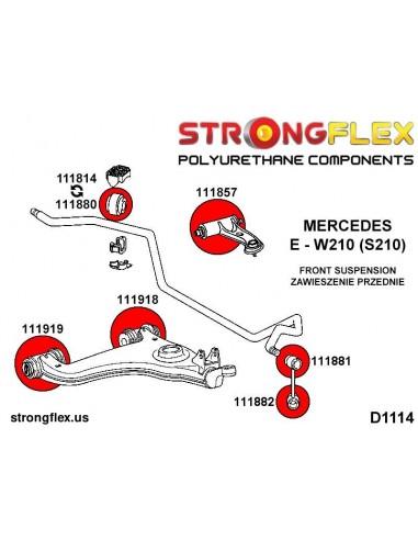 286196A: Front suspension bush kit SPORT