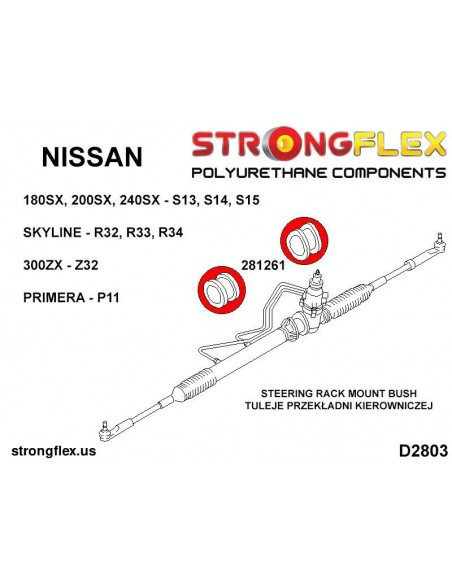 031342A: Rear diff mounting bush SPORT