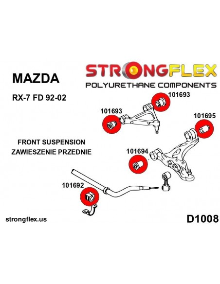 031415A: Rear beam mounting bush SPORT