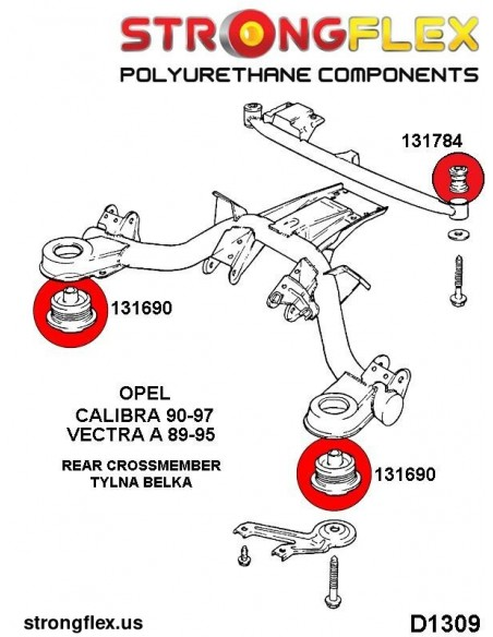 031466A: Rear beam mounting bush SPORT