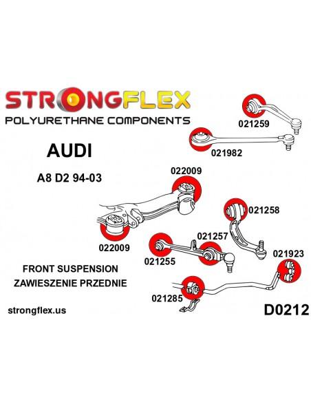 126140A: Rear suspension bush kit SPORT