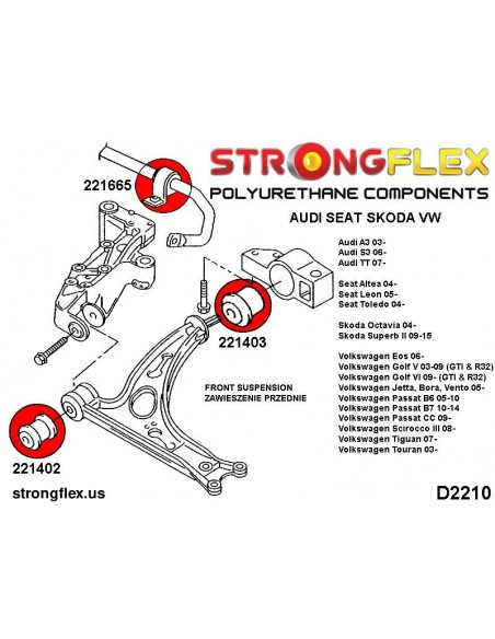 031599A: Rear diff rear mounting bush SPORT