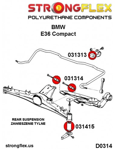 031688A: Front control arm to chassis bush SPORT