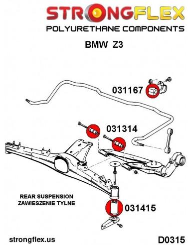 031715A: Rear beam mount bush SPORT