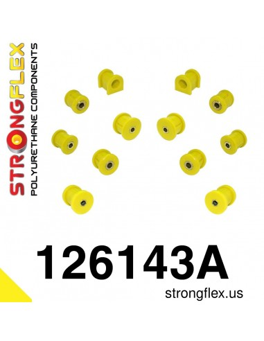 126143A: Rear suspension bush kit SPORT