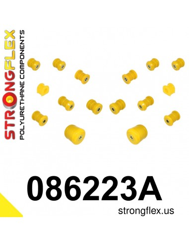 086223A: Rear suspension polyurethane bush kit SPORT