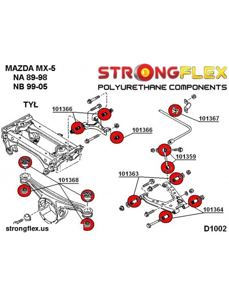 031941A: Rear subframe – front bush SPORT