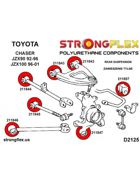 031975A: Rear differential - rear bush SPORT